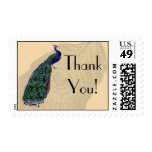 Vintage Peacock Thank You Postage