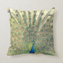 Vintage Peacock Throw Pillow