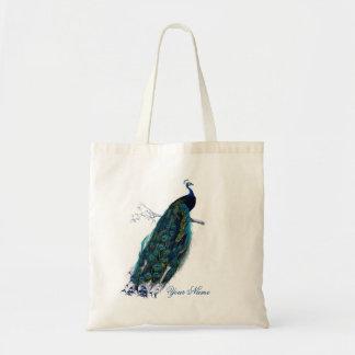 Vintage Peacock Tote Bag