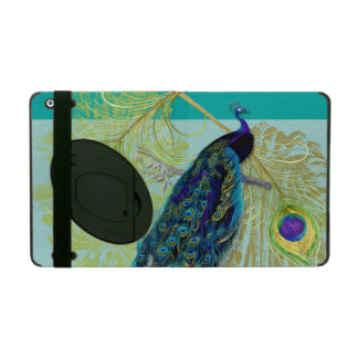 Vintage Peacock w Etched Swirls n Feathers Art iPad Cover