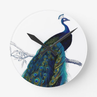 Vintage Peacock Wall Clock