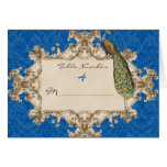 Vintage Peacock Wedding Table Number Seating Cards