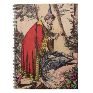 Vintage Peacock & Wizard Spiral Notebook