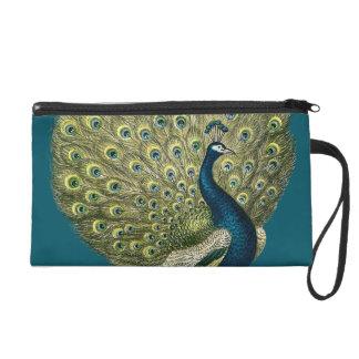 Vintage Peacock Wristlet Purse