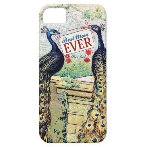 Vintage Peacocks - Best Mom Ever iPhone 5 Cases