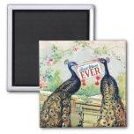 Vintage Peacocks - Best Mom Ever Refrigerator Magnets