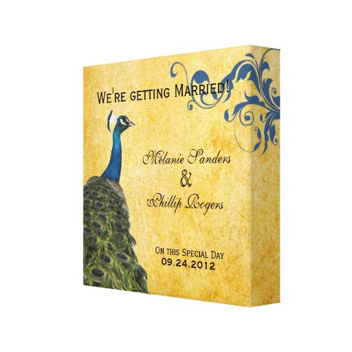 Vintage Peacocks Stretched Canvas Prints
