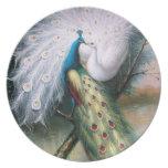 Vintage Peacocks Kiss Plates