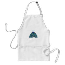 Vintage Peacocks Kissing Wedding Gifts Adult Apron