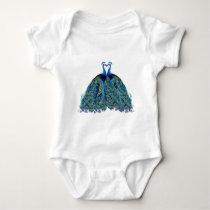 Vintage Peacocks Kissing Wedding Gifts Baby Bodysuit