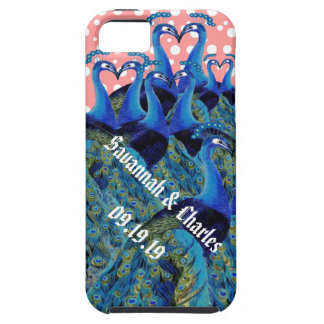 Vintage Peacocks Kissing Wedding Gifts iPhone 5/5S Case