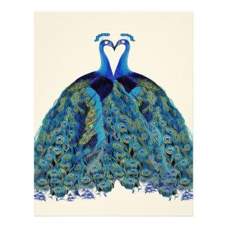 Vintage Peacocks Kissing Wedding Gifts Letterhead