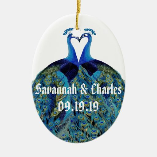 Wedding gifts double sided oval ceramic christmas ornament zazzle