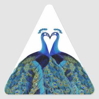 Vintage Peacocks Kissing Wedding Gifts Sticker