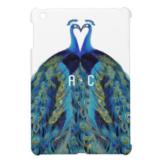 Vintage Peacocks Kissing Wedding iPad Case