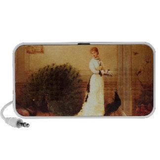 Vintage Peacocks & Woman Mini Speaker