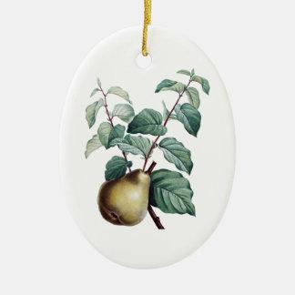 Vintage Pear Ceramic Ornament