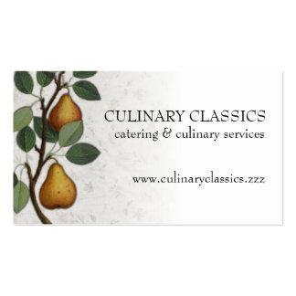 Vintage pear tree fruit cooking baking biz cards business card templates