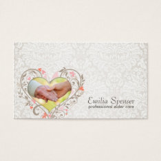 Vintage Pearl Elderly Care Business Card at Zazzle