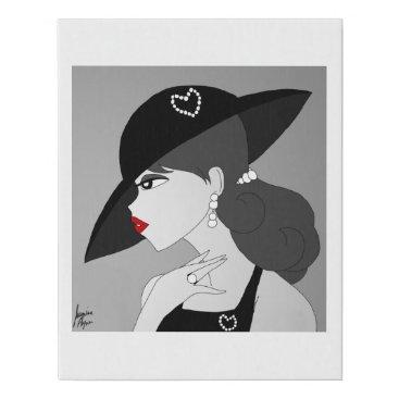 jasmineflynn Vintage Pearls Faux Canvas Print