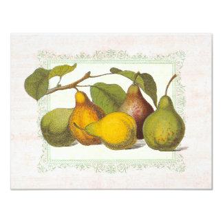 Vintage Pears Autumn Harvest Dinner Party Card