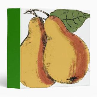 Vintage Pears Binder