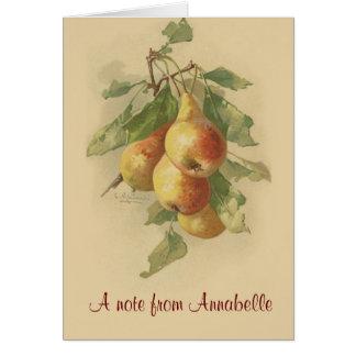 Vintage pears card