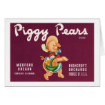 Vintage Pears Food Product Label Cards