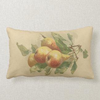 Vintage pears lumbar pillow