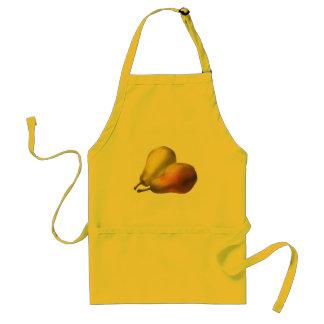 Vintage Pears, Organic Foods, Ripe Fruit Adult Apron