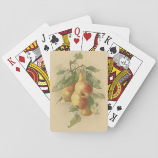 Vintage pears playing cards