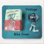 "Vintage , Pearson, Bike Siren Mouse Pad<br><div class=""desc"">Vintage ,  Pearson,  Bike Siren</div>"