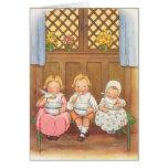 Vintage Pease Porridge Hot Childrens Nursery Rhyme Greeting Cards
