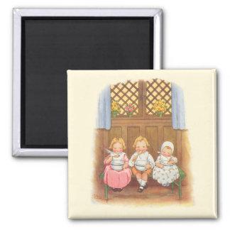 Vintage Pease Porridge Hot Childrens Nursery Rhyme Magnet
