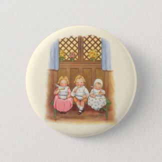 Vintage Pease Porridge Hot Childrens Nursery Rhyme Pinback Button