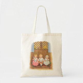 Vintage Pease Porridge Hot Childrens Nursery Rhyme Tote Bag