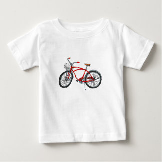 Vintage Pedal Power Bicycle Drawing Baby T-Shirt
