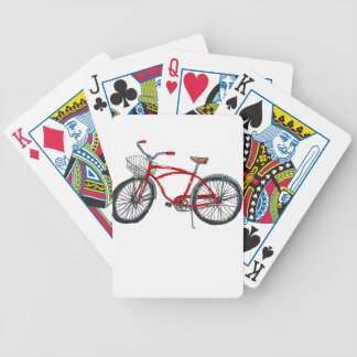 Vintage Pedal Power Bicycle Drawing Bicycle Playing Cards