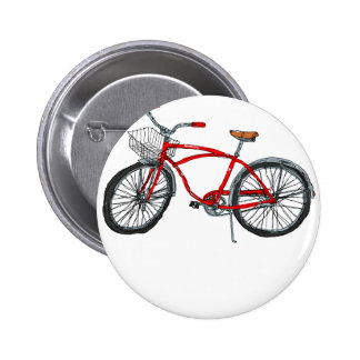 Vintage Pedal Power Bicycle Drawing 2 Inch Round Button