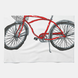 Vintage Pedal Power Bicycle Drawing Kitchen Towels