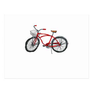 Vintage Pedal Power Bicycle Drawing Postcard