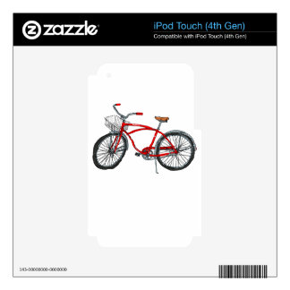 Vintage Pedal Power Bicycle Drawing iPod Touch 4G Decals