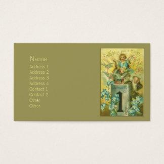 Vintage Pedestal Angel Business Card