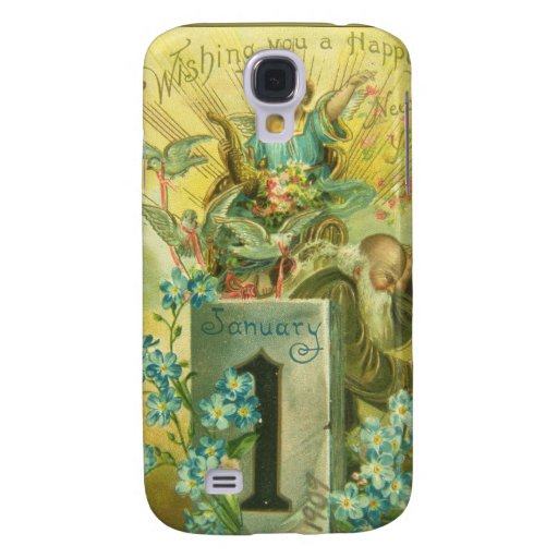 Vintage Pedestal Angel Galaxy S4 Covers