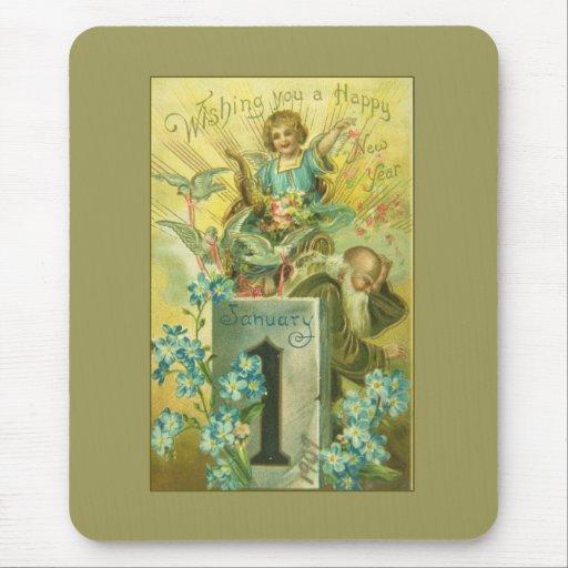 Vintage Pedestal Angel Mouse Pad