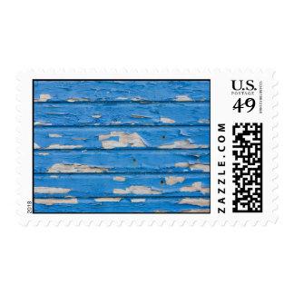 Vintage Peeling Blue Paint Stamp