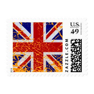 Vintage Peeling Paint Union Jack Flag Postage