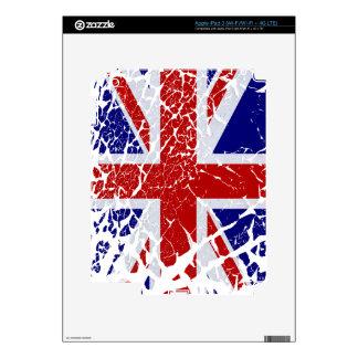Vintage Peeling Paint Union Jack Flag iPad 3 Decals