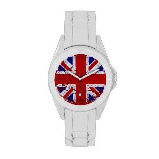 Vintage Peeling Paint Union Jack Flag Wrist Watches