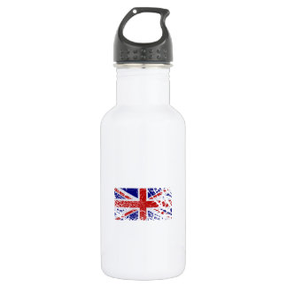 Vintage Peeling Paint Union Jack Flag Water Bottle